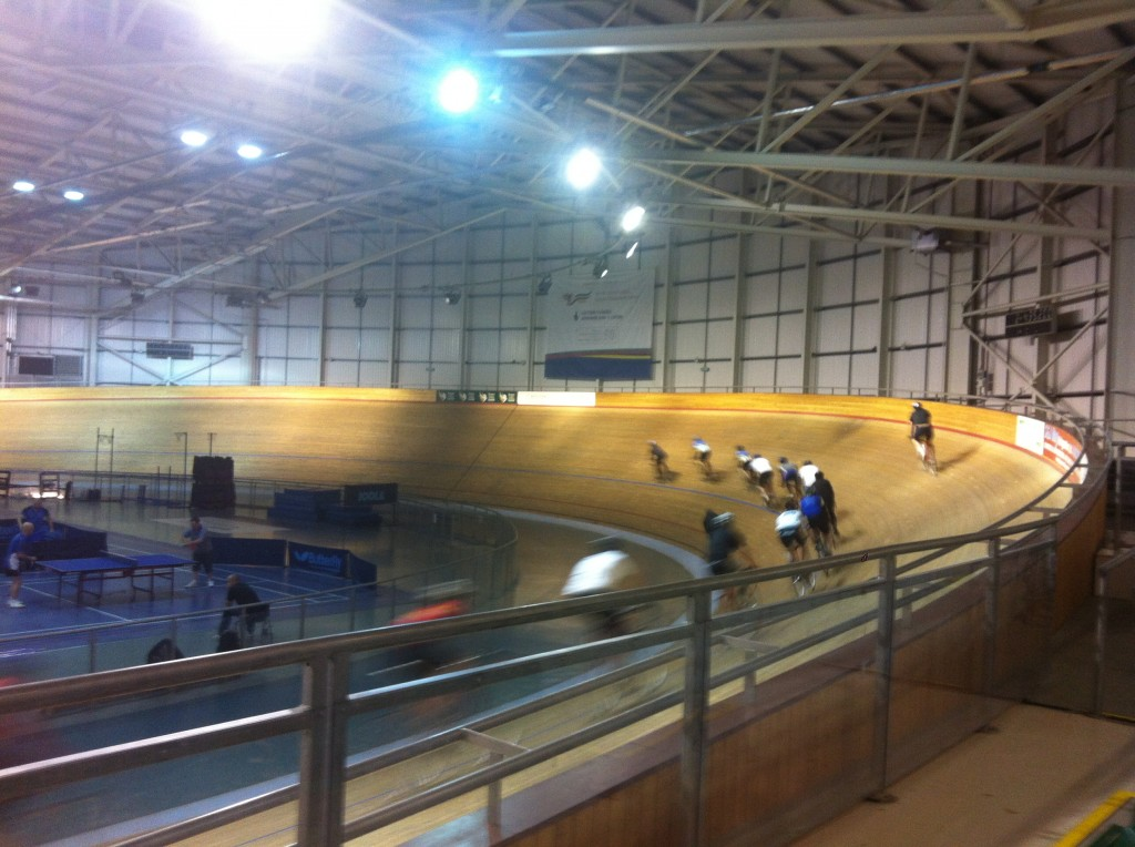 This is honestly me (at the front) in Newport velodrome